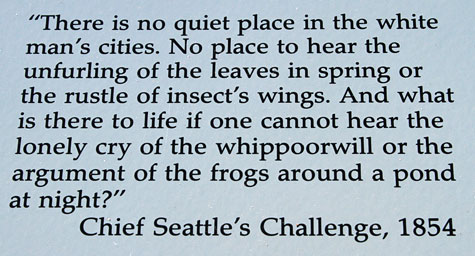 chief seattle s 1854 oration true Trouble is, they were not originally spoken by chief seattle or any other native  american  1855, seattle was asked to respond to the governor's long speech   more than anywhere else the genuine instincts of a gentleman.