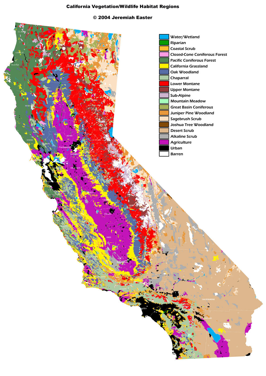 Natural Communities Maps California Research Guides At. EcoRestore ...