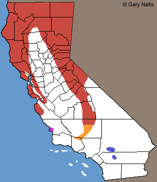 Rubber Boas California Range Map